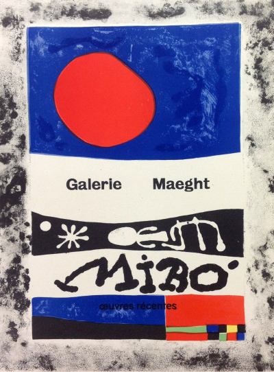 """Miro 51 """"Oeuvres- ecentes"""" Art in posters printed 1959 Mourlot"""