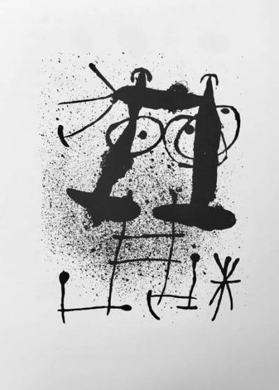 "Miro Lithograph ""DM03169"" printed in France 1970"