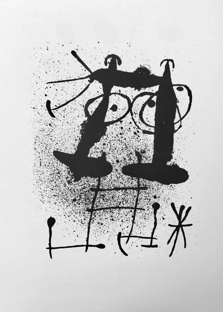 """Miro Lithograph """"DM03169"""" printed in France 1970"""