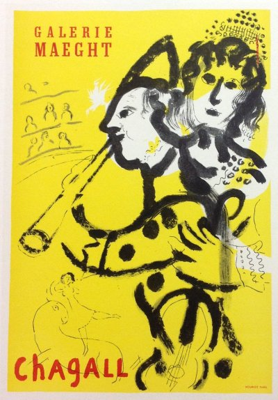 """Chagall 24 """"Galerie Maeght 1957"""" Art in posters Mourlot 1959"""