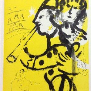 Chagall Lithograph 24, Galerie Maeght 1957