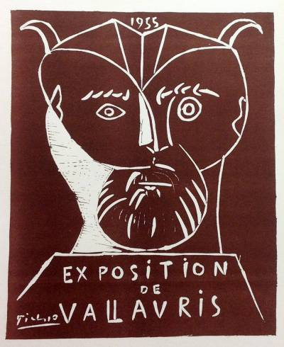 """Picasso 75 Lithographs- Vallauris 1955"""" 1959 Mourlot Art in posters"""