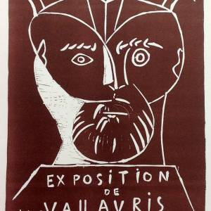 Picasso Lithograph 75, Expo Vallauris 1955