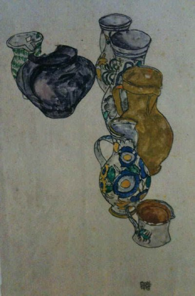 "Schiele Egon, 64, Lithograph, ""Persian Jags"" Printed 1968"