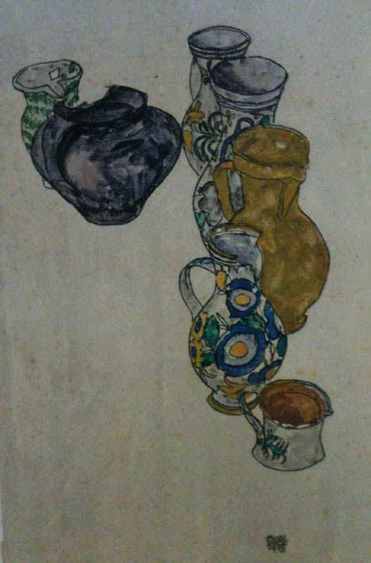 Schiele 64, Lithograph Persian Jugs, 1968