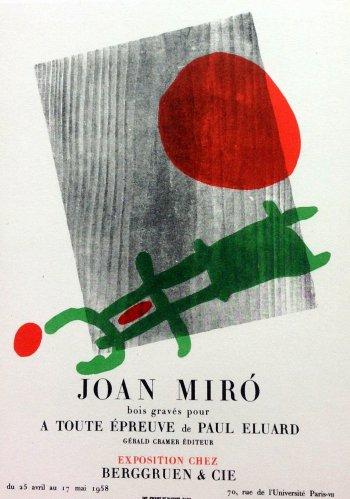 "Miro 55 ""A toute epreuve"" printed 1959 Mourlot, Art in posters"
