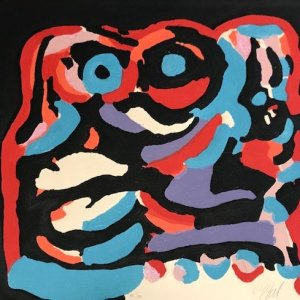"Karel Appel Carborundum etching ""Da Olipha"""