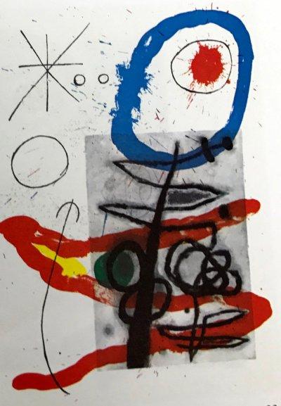 """Joan Miro Original Lithograph """"DM09151"""" printed 1970"""