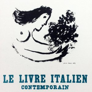 Chagall Lithograph 19, Le livre Italien, Art in posters