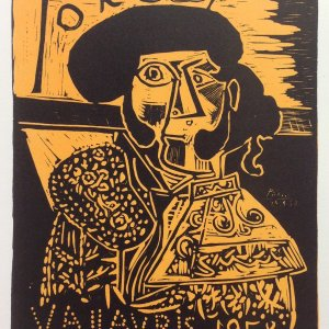 Picasso Lithograph 94, Toros, Art in posters