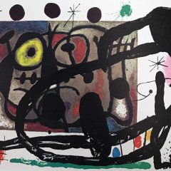 "Miro Original Lithograph ""DM13151d"" size 22x15"" printed 1970"