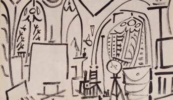 Picasso Sketchbook Lithograph No 3, dated 3/11/1955