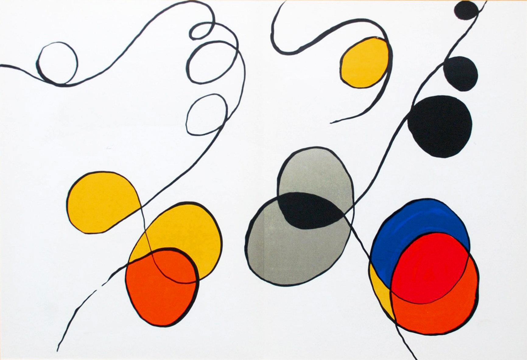 Alexander Calder, Original Lithograph, DM54173d, Derriere le Miroir 1963