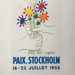 "Picasso 83 Lithograph ""Paix Stockholm""- 1959 Mourlot Art in posters"