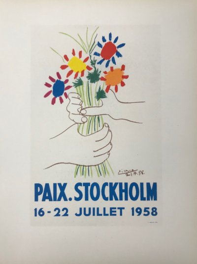 """Picasso 83 Lithograph """"Paix Stockholm""""- 1959 Mourlot Art in posters"""
