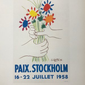Picasso Lithograph 89, Paix Stockholm, Art in posters