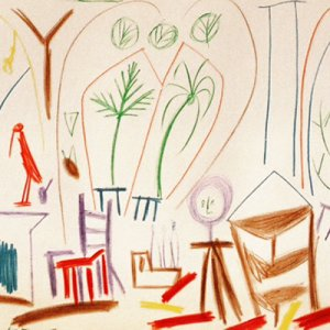 Picasso Sketchbook Lithograph, No.1 date 15/11/ 1955