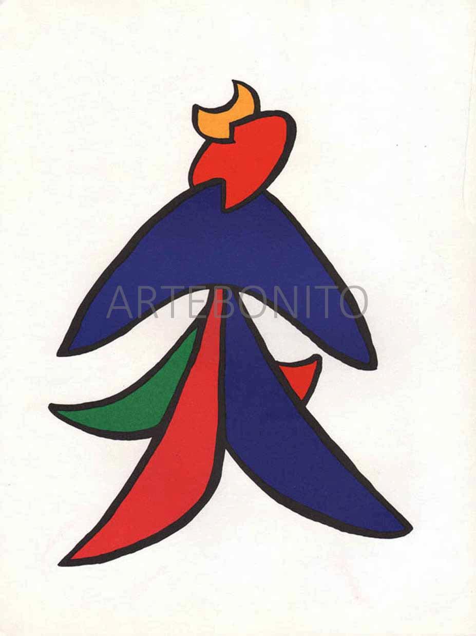 Alexander Calder Lithograph, DM04141, Derriere le Miroir 1963