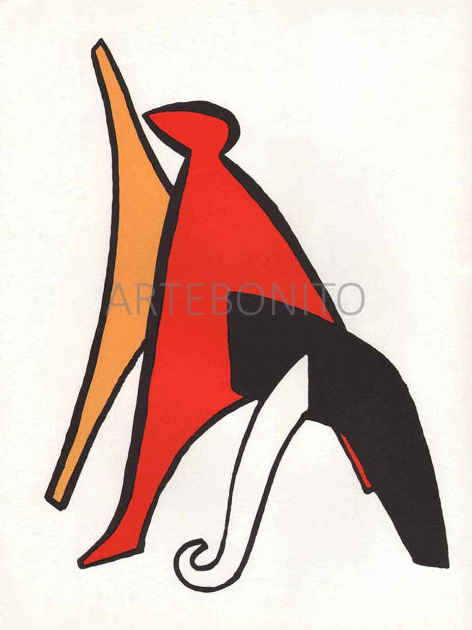 Alexander Calder Lithograph, DM02141, Derriere le Miroir 1963
