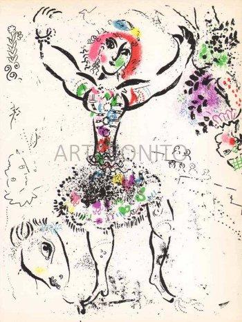 Chagall original Lithograph vol 1, La jongleuse, 1960