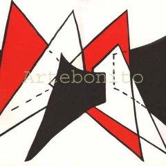 """Calder Original Lithograph 15x22"""" """"DM25141"""" 1963"""