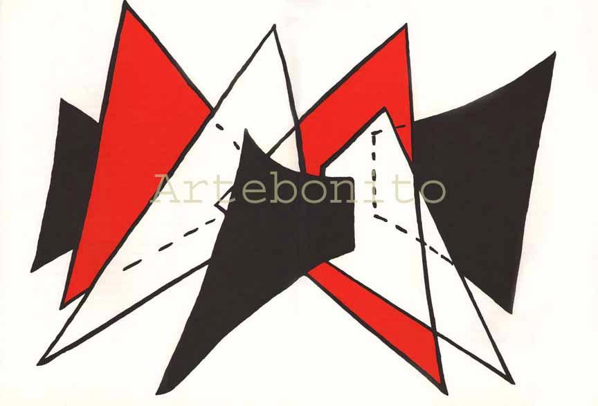 Alexander Calder Lithograph, DM25141d, Derriere le Miroir 1963