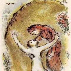 "Marc Chagall Odyssey 1 ""The Soul of Elpenor"" Lithograph 1989"