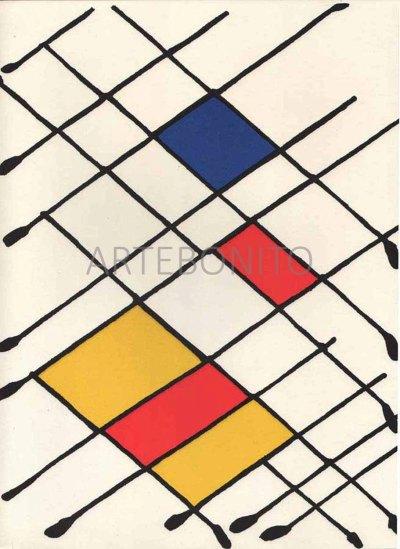 """Calder Original Lithograph """"DM09156"""" printed 1966"""