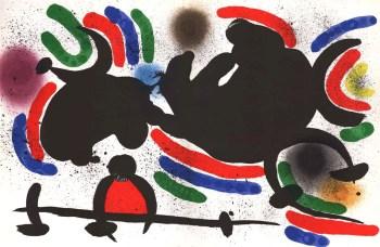 Joan Miro Original Lithograph V1-4d, Mourlot 1970