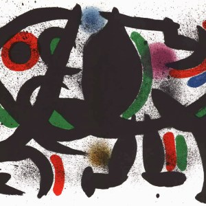 Joan Miro Original Lithograph V1-8d, Mourlot 1970