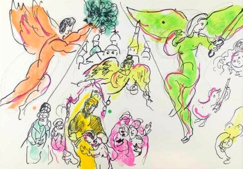 Chagall Lithograph Moussorgsky & Mozart, Paris Opera