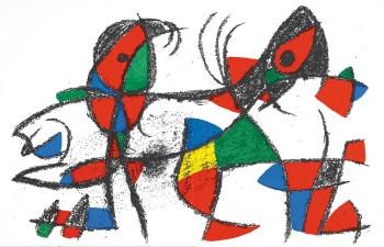 Miro Original LithoJoan Miro Original Lithograph V2-9d, Mourlot 1975
