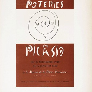 Pablo Picasso lithograph 59, art in posters