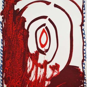 Pierre Alechinsky Lithograph N8-1, Noise 1988