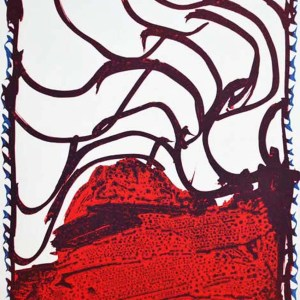 Pierre Alechinsky Lithographs N8-3 Noise 1988