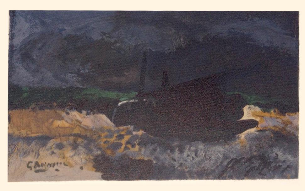"""Braque """"Barque sur les Galets 1959"""" Lithograph 1968"""