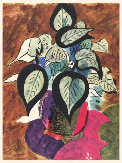 """Braque Heliogravure """"H02"""" printed 1955 Carnet intimes"""