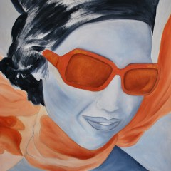 "Absi Grace ""Foulard orange"" Oil on canvas"