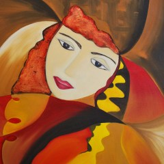 "Absi Grace ""The Dreamer 2"" Oil on canvas"