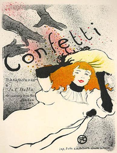 """Lautrec Henri de Toulouse, """"Confetti"""""""