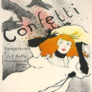 Lautrec Lithograph 14 Confetti, Mourlot 1966