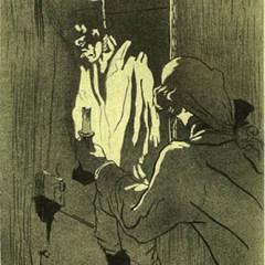 Toulouse Lautrec  Lithograph 2,  Le pendu, Post-Impressionism,