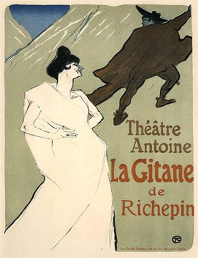 """Lautrec Henri de Toulouse, """"La Gitane"""""""