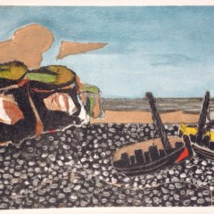 "Braque ""Les Barques bleues"" Lithograph printed 1968"