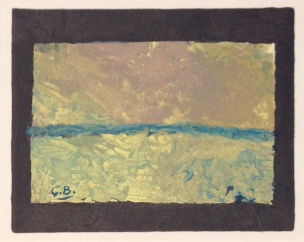"Braque Lithograph ""Les Champs 1957"" printed 1968"