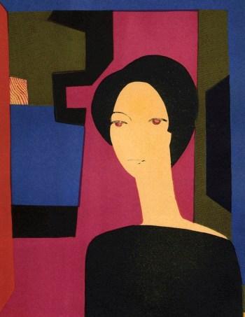 Andre Minaux Original Lithograph, Sicilienne 1974