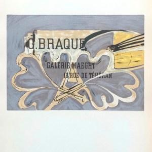 Braque lithograph, Galerie Maeght