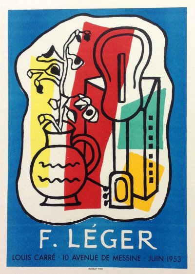"Leger 34 ""Fernand Leger 1953"" Art in posters printed 1959 Mourlot"