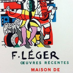 """Leger 37 """"Oeuvres recentes"""" Art in posters printed 1959 by Mourlot"""