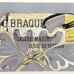"Braque 4 ""Galerie Braque Maeght 52"" Mourlot 1959 Art in posters"
